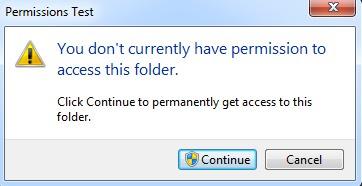 Access Denied Folder Errors